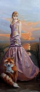 Schilderij Evening Glory